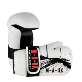 Martial Arts U.K Shine – Sparring Hand Pads – White and Black