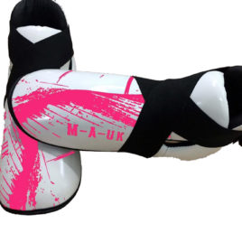 Martial Arts U.K Shine – Sparring Feet Pads – White and Pink
