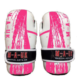 Martial Arts U.K Shine – Sparring Hand Pads – White and Pink