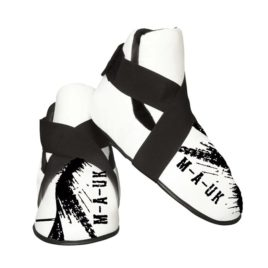Martial Arts U.K Shine – Sparring Feet Pads – White and Black