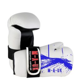 Martial Arts U.K Shine – Sparring Hand Pads – White and Blue