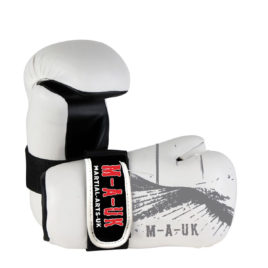 Sparring Hand Pads – White and Grey – PU Shine