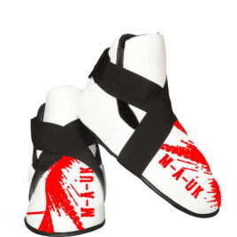 Martial Arts U.K Shine – Sparring Feet Pads – White and Red