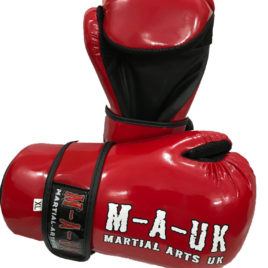 Martial Arts U.K SHINE – Sparring Hand Pads – Deluxe Red