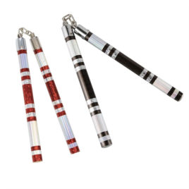 Striped Chrome Competiton Nunchaku