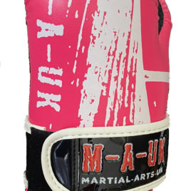 Martial Arts U.K SHINE – Sparring Hand Pads – Pink and White Splash