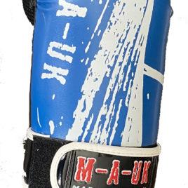 Martial Arts U.K SHINE – Sparring Hand Pads – Blue and White Splash